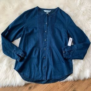 Old Navy Pintuck Chambray Shirt